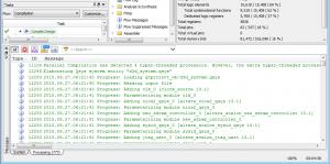 Quartus IIのコンパイルメッセージ