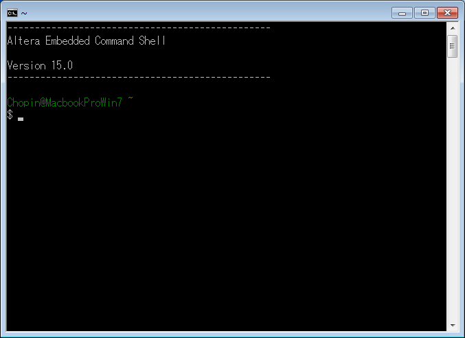 Embedded Command Shellの起動