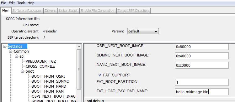 BSP Editor の設定