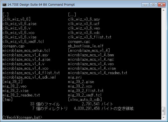 CORE Generatorの生成ファイル