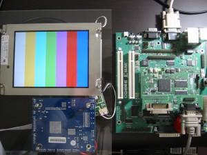LCDと接続した様子