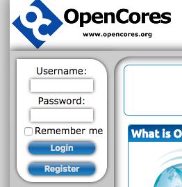 OpenCoresのトップ・ページ