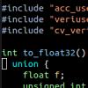 CverのPLIで浮動小数点入力(Linux)
