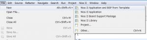 新しいアプリケーションプロジェクトの作成