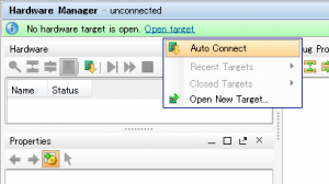 Hardware ManagerのAuto Connect