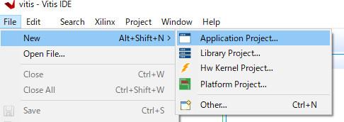 アプリケーションプロジェクトの作成